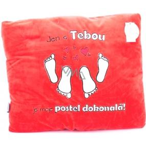 Albi Humorný polštář Dokonalá postel 36 x 30 cm