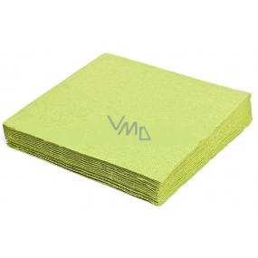 Gastro Papírové ubrousky barevné světle zelené 2 vrstvé 33 x 33 cm 50 kusů