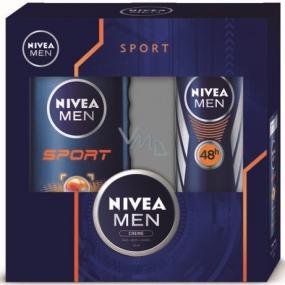 Nivea Men Sport antiperspirant sprej 150 ml + sprchový gel 250 ml + Men krém 30 ml, kosmetická sada