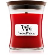 WoodWick Pomegranate - Granátové jablko vonná svíčka s dřevěným knotem a víčkem sklo střední 275 g