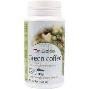 Dr.Bojda Green Coffee zelená káva extra silná k snižování hmotnosti 4000 mg 60 tablet