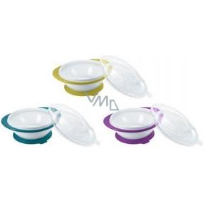 Nuk Easy Learning dětská miska se 2 víčky a přísavkou 1 kus v balení, různé barvy