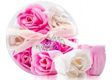 Elina Mýdlo květy růže bílé, růžové 7 kusů