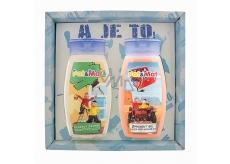 Bohemia Gifts & Cosmetics Kids Pat a Mat - Mechanici Jahoda sprchový gel 250 ml + vlasový šampon 250 ml, pro děti kosmetická sada