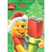Ditipo Disney Dárková papírová taška pro děti Medvídek Pú s dárky 26,4 x 12 x 32,4 cm