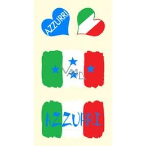 Arch Tetovací obtisky na obličej i tělo Itálie vlajka 2 motiv