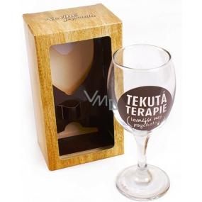 Albi Sklenička na víno Tekutá terapie 220 ml