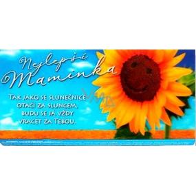 Albi 3D Belgická mléčná čokoláda Nejlepší maminka 50 g, 6,2 x 13,cm