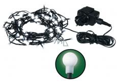 Emos Osvětlení vánoční bílé kuličky 48 m, 480 LED + 5 m přívodní kabel 33W 230V denní světlo