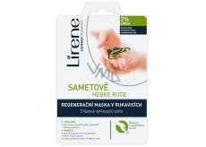 Lirene Sametově hebké ruce 3% urea 2 fázová peeling a regenerační maska v rukavicích