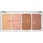 Essence Glow To Go rozjasňovací paletka 10 Sunkissed Glow 14 g