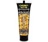 Diva & Nice Chunky Glitter Holographic UV ozdobný gel na tělo a obličej 24 karat - zlatá 13 ml