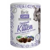 Brit Care Cat Snack Křupavý kuřecí pamlsek s kosem a borůvkou doplňkové krmivo pro koťata, od 6 týdnů věku 100 g