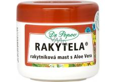 Dr. Popov Rakytela Rakytníková mast s Aloe Vera zklidňuje, hydratuje normální i vysušenou pokožku, vhodná i k péči o jizvy, spáleniny a omrzliny 50 ml