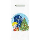 Nekupto Igelitová taška 40 x 18 cm Kluk se stromkem 012 LB