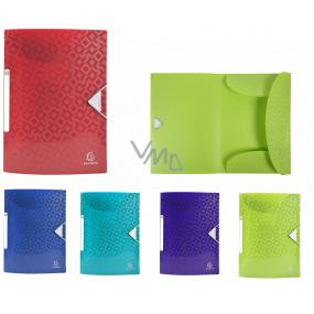 Exacompta Offix spisové desky s gumičkou A4 maxi, PP, 1 kus, mix 5 barev