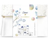 Dove Nourishing Deeply vyživující sprchový gel pro ženy 250 ml + tuhé mýdlo 100 g + antiperspirant sprej 150 ml + tělové mléko 250 ml + šampon na vlasy 250 ml, kosmetická sada