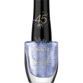 Astor Quick & Shine Nail Polish lak na nehty 604 Midnight Blue 8 ml
