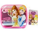 Disney Princess sponky 2 kusy + gumičky do vlasů 2 kusy + mini hřebínek 1 kus + etue, dárková sada