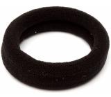 Vlasová gumička černá 6 x 2 cm