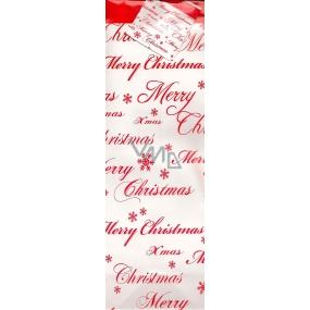 Nekupto Dárková papírová taška na láhev 553 30 ALH Merry Christmas 33 x 10 x 9 cm