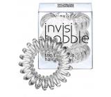 Invisibobble Crystal Clear Sada Gumička do vlasů průhledná spirálová 3 kusy