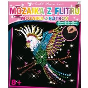 Mozaika z flitrů 8+ Papoušek 35 x 26 cm