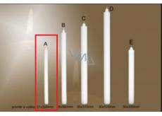Lima Gastro Kostelní hladká svíčka bílá dlouhá 21 x 300 mm 1 kus