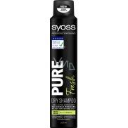Syoss Pure Fresh vegan, bez silikonů suchý šampon 200 ml