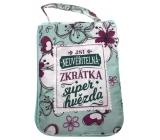 Albi Skládací taška na zip do kabelky s nápisem Hvězda 42 x 41 x 11 cm