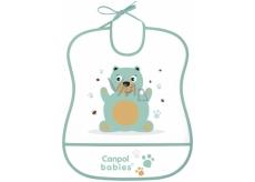 Canpol babies Cute Animals Plastový bryndák měkký s velkou kapsou 1 kus