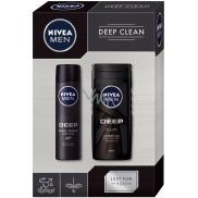 Nivea Men Deep Clean sprchový gel pro muže 250 ml + antiperspirant sprej pro muže 150 ml, kosmetická sada