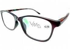 Berkeley Čtecí dioptrické brýle +2,5 plast hnědé, barevné postranice 1 kus MC2193