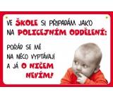 Nekupto Humor po Česku humorná cedulka 018 15 x 10 cm 1 kus