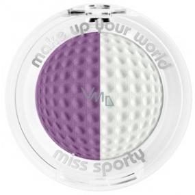 Miss Sporty Studio Color Duo oční stíny 206 Iridescent Purple 2,5 g