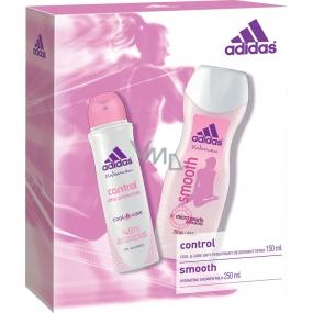 Adidas Control deodorant antiperspirant sprej pro ženy 150 ml + Smooth sprchový gel 250 ml, kosmetická sada