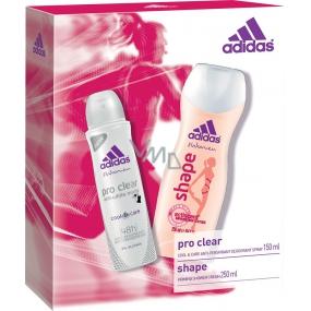 Adidas Cool & Care 48h Pro Clear deodorant antiperspirant sprej pro ženy 150 ml + Shape sprchový gel 250 ml, kosmetická sada