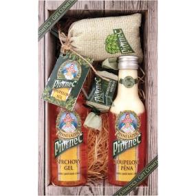 Bohemia Gifts & Cosmetics Pivrnec sprchový gel 200 ml + Koupelová pěna 200 ml + Mýdlo 30 g + Koupelová sůl v sáčku 150 g, kosmetická sada