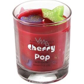 Bomb Cosmetics Višeň - Cherry Pop Glass Candle Vonná přírodní, ručně vyrobena svíčka ve skle hoří až 35 hodin