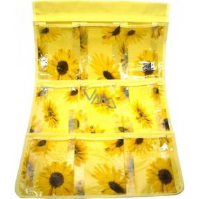 Kapsář do koupelny závěsný 705 žlutý 59 x 35,5 cm 9 kapes