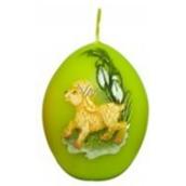 Zvířátka velikonoční svíčka světle zelená vajíčko 54 g