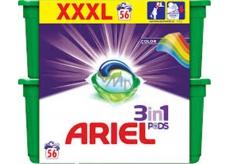Ariel 3v1 Color gelové kapsle na praní prádla chrání a oživují barvy 56 kusů 1674,4 g