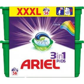 Ariel 3v1 Color gelové kapsle na praní prádla 56 kusů 1674,4 g