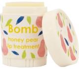 Bomb Cosmetics Hruška a med - Honey Pear Balzám na rty 4,5 g