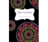 Ditipo Relax do kabelky Mandala s růžovými květy zápisník 15 x 10,5 cm
