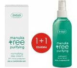 Ziaja Manuka Tree Purifying normalizační denní krém 50 ml + Manuka Tree Purifying adstringentní pleťový tonik 200 ml, duopack