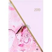 Albi Diář 2019 týdenní Mramor 12,6 x 17 x 1,2 cm