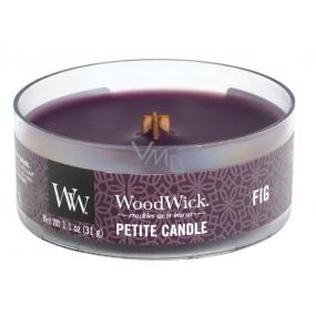 WoodWick Fig - Fík vonná svíčka s dřevěným knotem petite 31 g