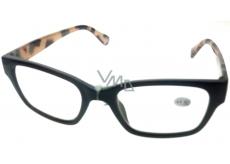 Berkeley Čtecí dioptrické brýle +1,5 plast černé, stranice tygrované 1 kus ER4198