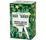 Heat & Heather Bio Matcha, mořské řasy a spirulina zelený čaj 20 sáčků x 2 g